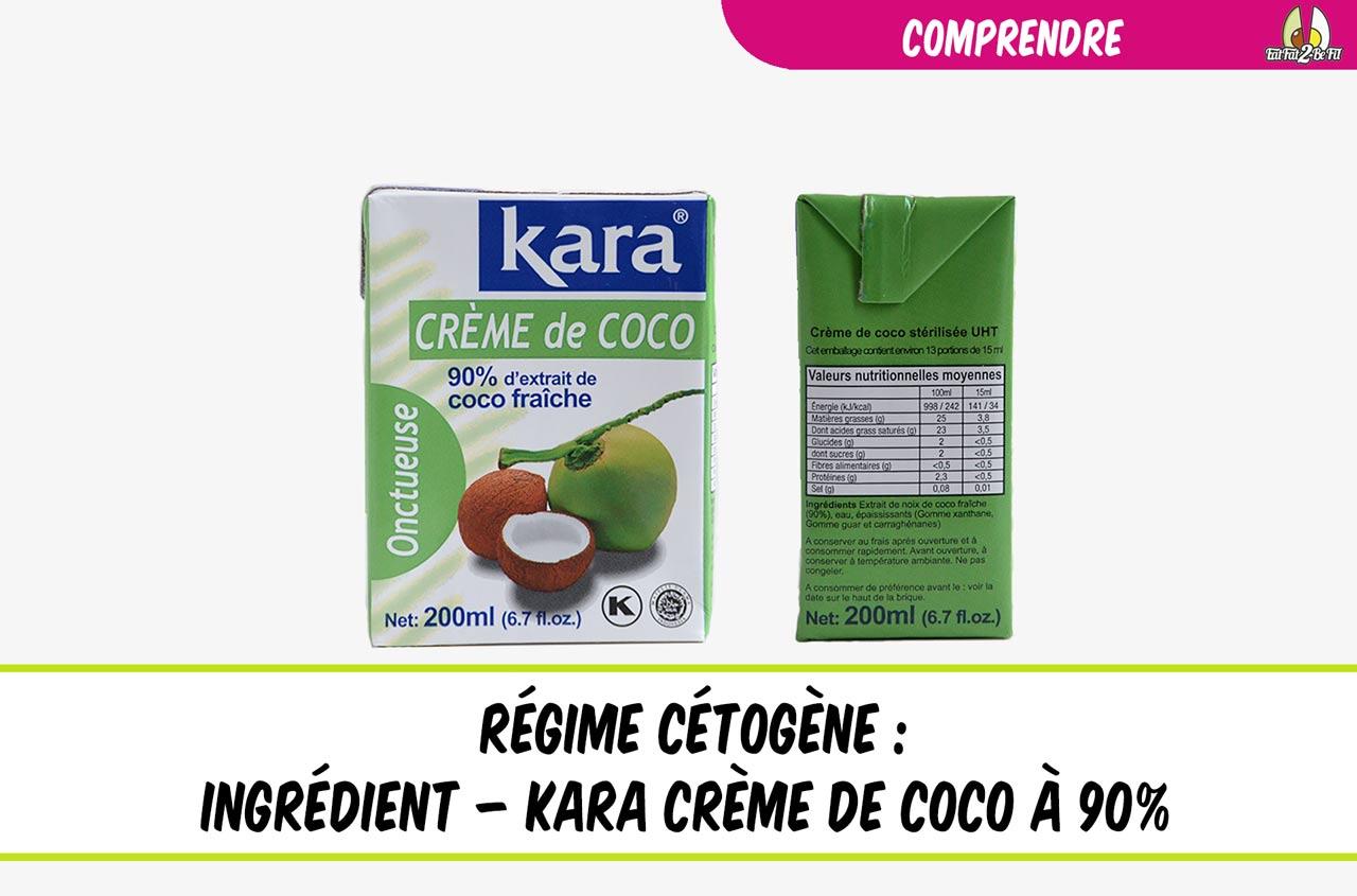 ingrédient du régime cétogène la crème de coco kara 90%