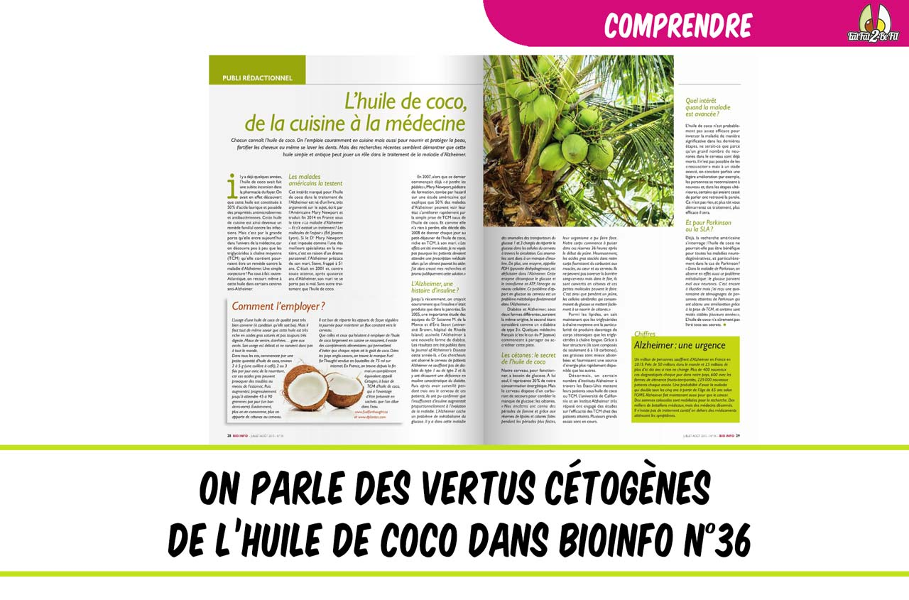 on parle des vertus de la coco régime cétogène bioinfo 36