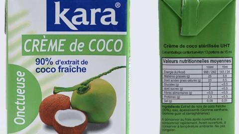 Présentation d'ingrédient : KARA crème de coco à 90%