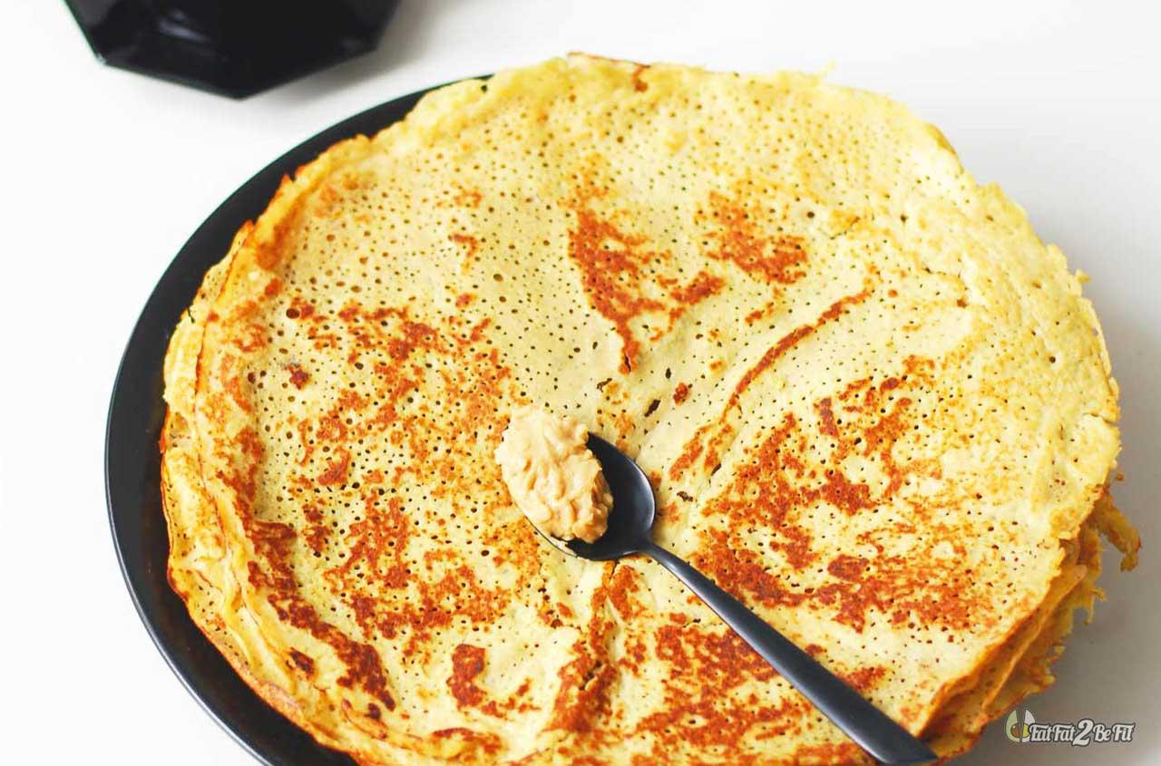 recette cétogène de crêpes cétogènes pour le goûter avec du cream cheese sans sucre