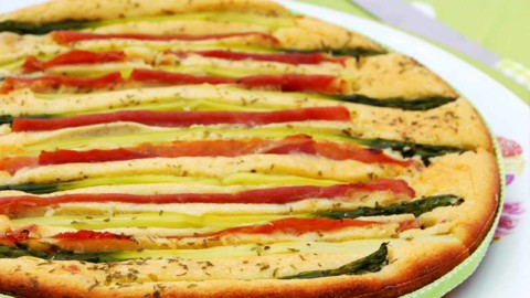 Recette cétogène : Le gâteau Ricotta, Asperge et Jambon