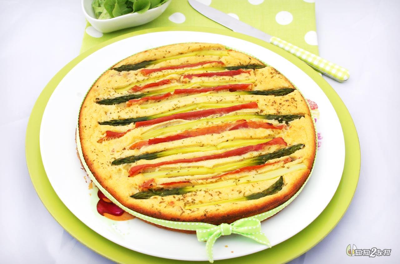 régime cétogène recette salée ricotta asperge jambon