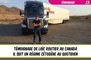 témoignage loïc routier canada et régime cétogène