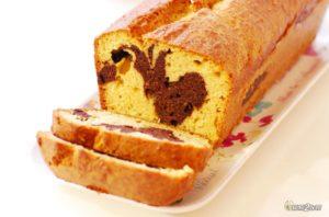 recette cétogène de gâteau pour le goûter marbré au chocolat et coco