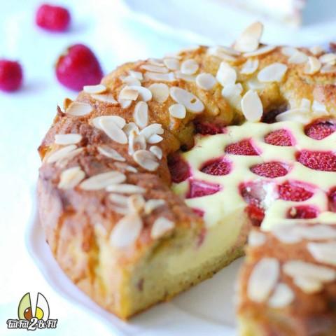 Recette cétogène : Amandier façon cheesecake aux fraises