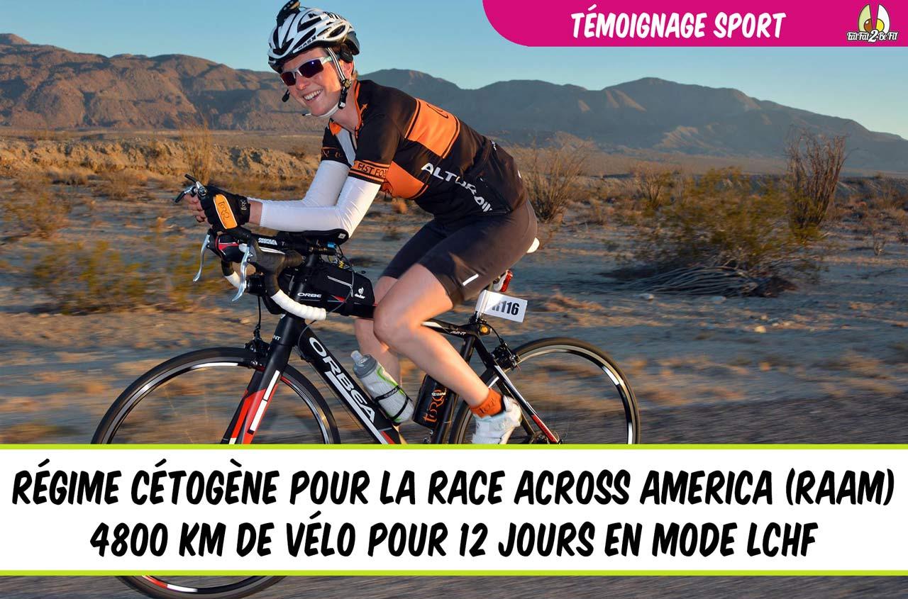 témoignage sport régime cétogène vélo race across america raam