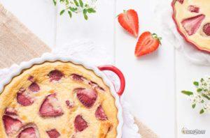 recette cétogène dessert fruit clafoutis fraise sans gluten sans sucre