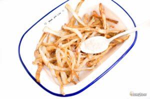 régime cétogène recette frites croustillantes céleri à la friteuse