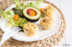 recette cétogène mini muffin salé fromage gorgonzola noisette