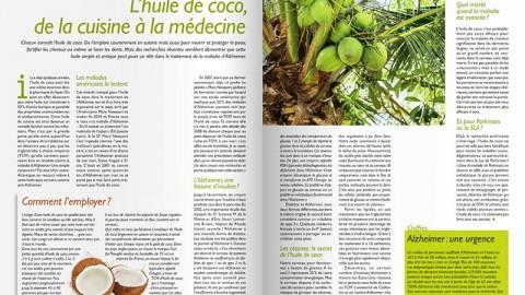 On parle des vertus cétogènes de l'huile de coco dans BioInfo N°36