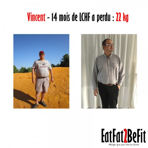 Témoignage de Vincent pour ses 22 kg de moins en mode LCHF