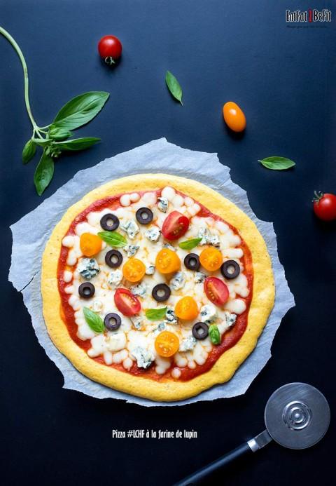 Pizza LCHF/cétogène à la farine de lupin