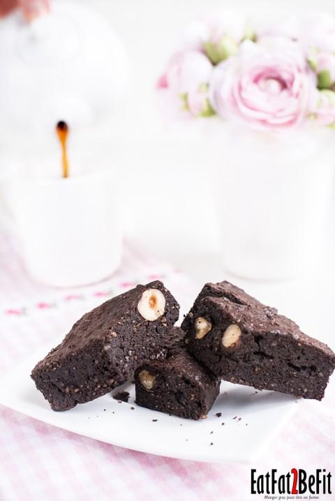 Recette cétogène : Le brownie chocolat & noisette (sans gluten) … Pâques en version LCHF !
