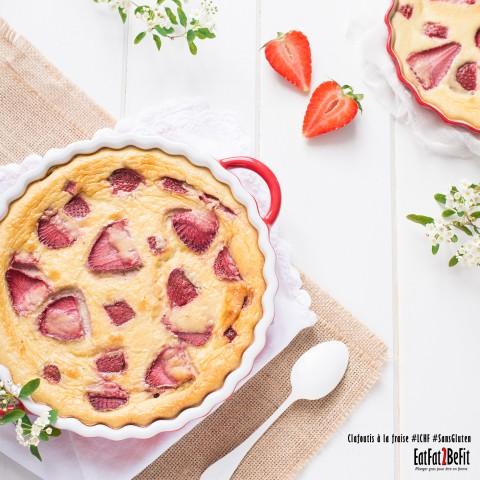 Recette cétogène : Clafoutis à la fraise LCHF – Sans sucre et sans gluten