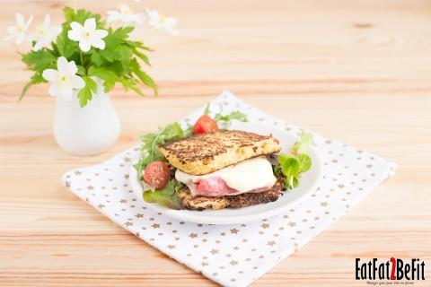 Recette cétogène : Le croque-monsieur LCHF et sans gluten