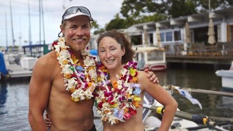 Meredith & Sami Inkinen testent leur mariage avec une traversée du pacifique à la rame en utilisant le régime cétogène