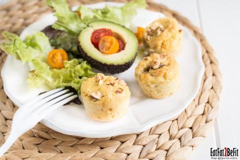 Recette cétogène : Mini muffins au fromage LCHF et sans gluten