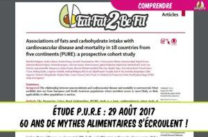publication de l'étude PURE 60 ans de mythes alimentaire s'écroulent