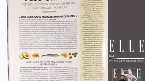 Interview de Nelly & Ulrich dans le magazine ELLE N° 3753 en date du 24 novembre 2017