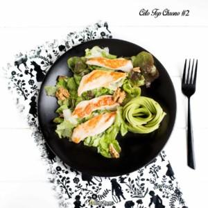#02 poulet - avocat - noix - salade - vinaigrette