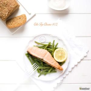 #12 saumon - haricot vert - sauce citronnée - pain céto