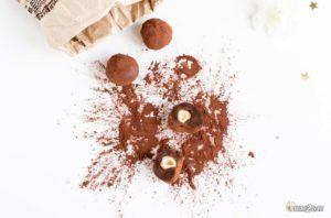 recette cétogène pour noël truffes au chocolat noisette orange vegan