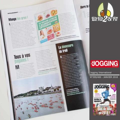 Jogging international parle de notre livre : MANGE TON GRAS !