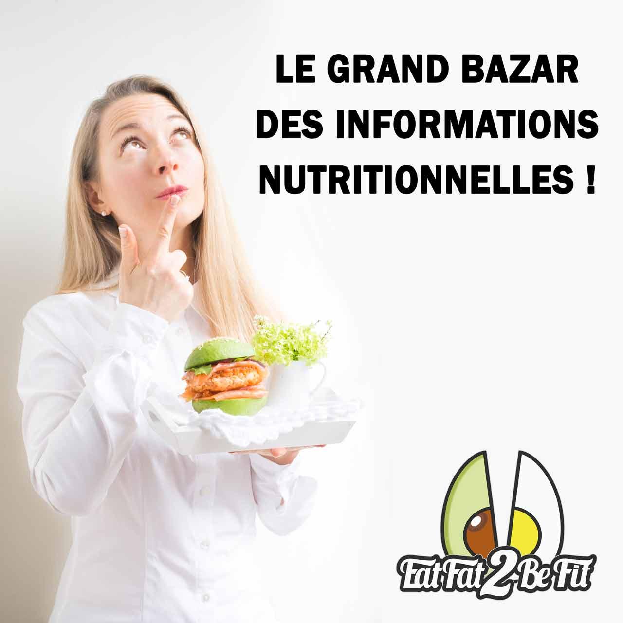 l'information nutritionnelle n'est pas fiable