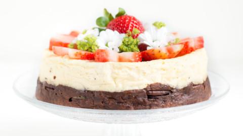 Brownie & Cheesecake fraise : Gâteau de fêtes #LCHF #SansSucre !