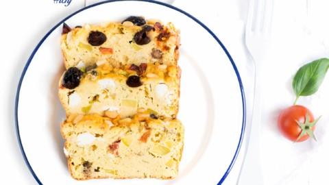 Recette Cétogène : Le cake salé méditerranéen LCHF et sans gluten