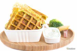régime cétogène recette gaufre brocoli jambon morbier