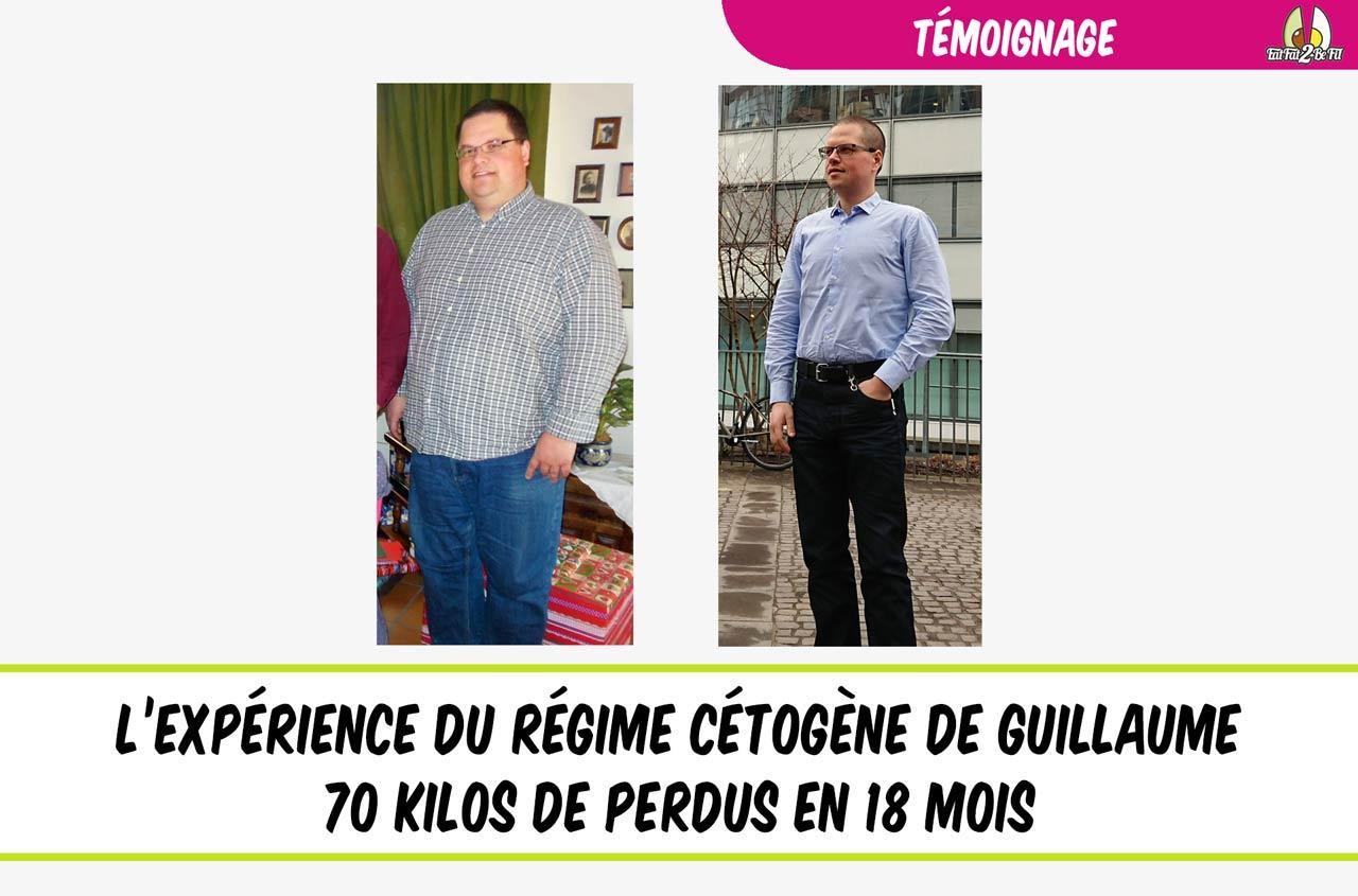 témoignage régime cétogène guillaume perte de poids