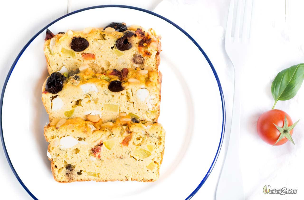 régime cétogène recette cake salé froid méditérannéen feta courgette sans gluten