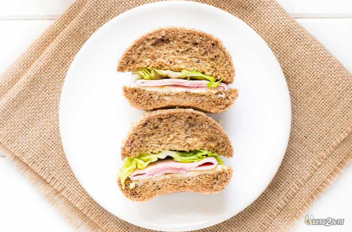 recette cétogène menu vacances sur la route sandwich jambon beurre