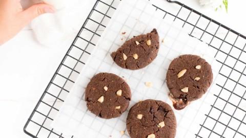 Cookies Pirouette Cacahuète Cétogène LCHF et sans gluten