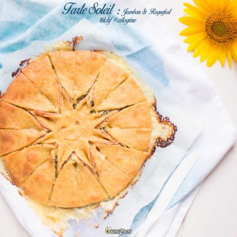 Tarte Soleil Cétogène LCHF: Jambon & Roquefort