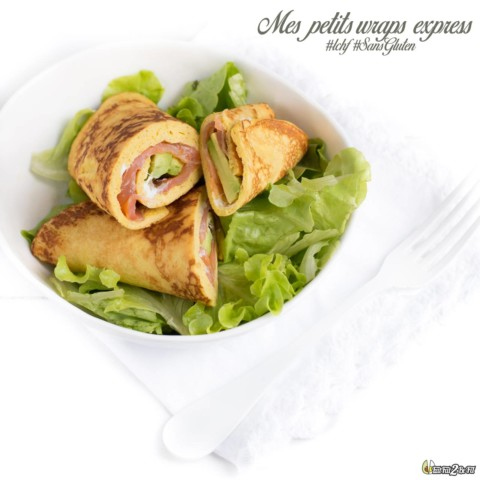 Wraps express: Saumon & Avocat LCHF cétogène