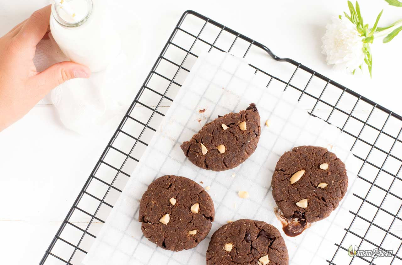 recette cétogène goûter des enfants cookie tout chocolat cacahuète sans sucre