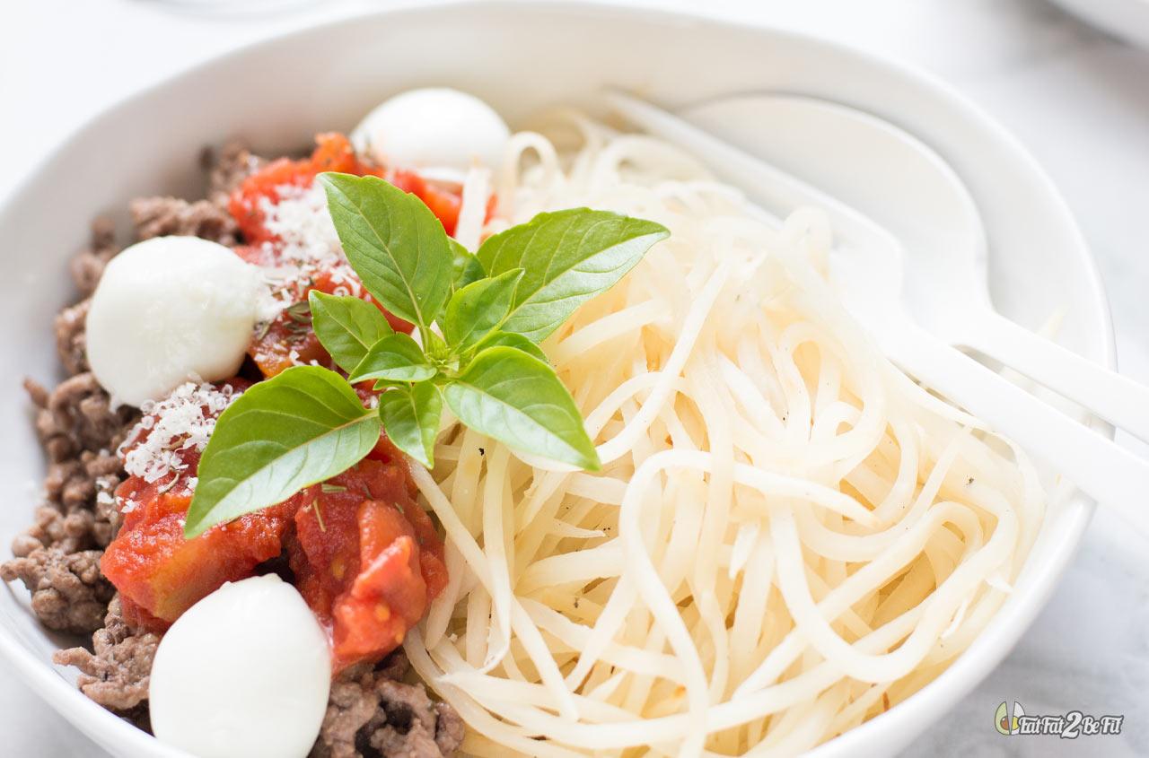 régime cétogène spaghetti bolognaise radis noir sans pâtes