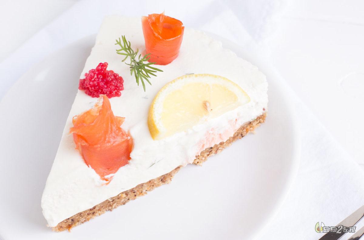 recette cétogène cheesecake salé 2 saumons sans cuisson