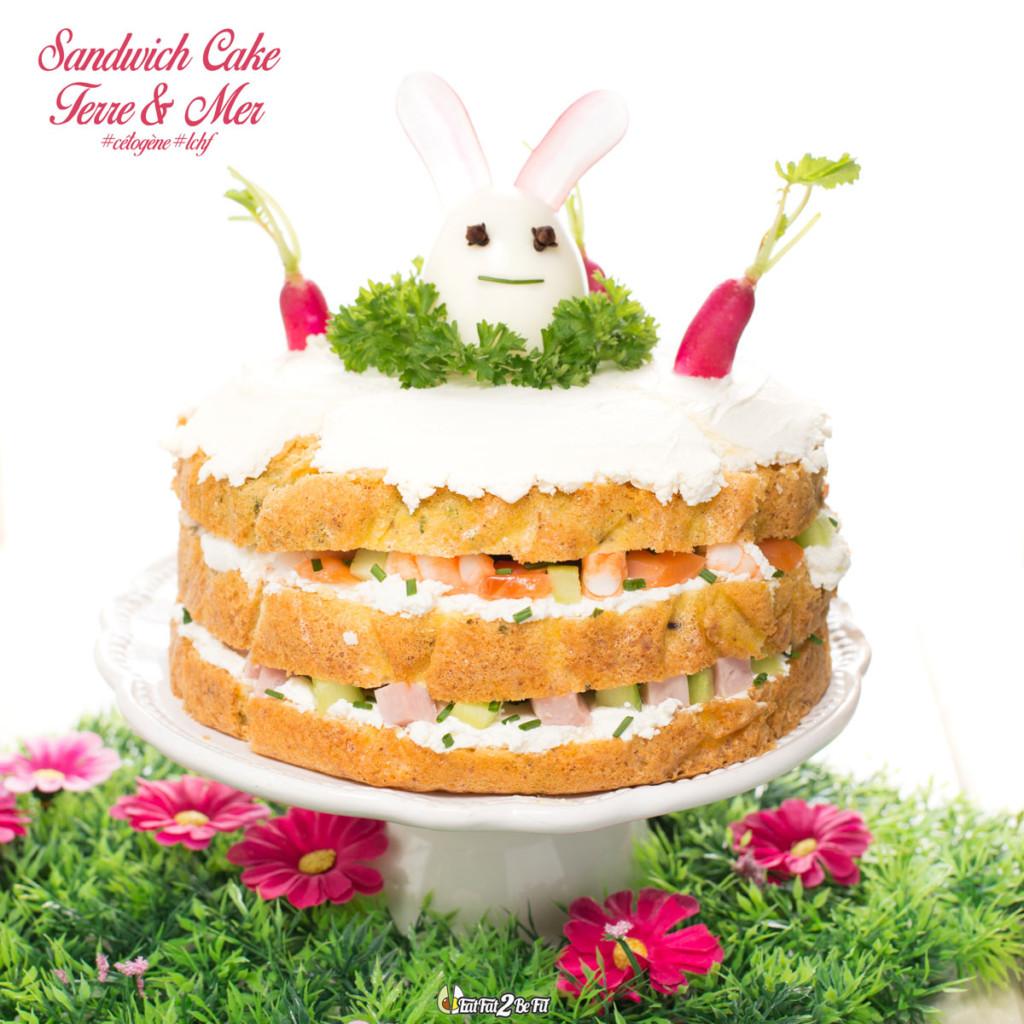 Régime Cétogène - Recette LCHF - Sandwich Cake