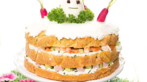 Régime Cétogène – Recette LCHF – Sandwich cake : Terre & Mer
