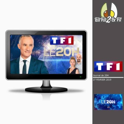 EatFat2BeFit présente le régime cétogène au journal de 20H sur TF1