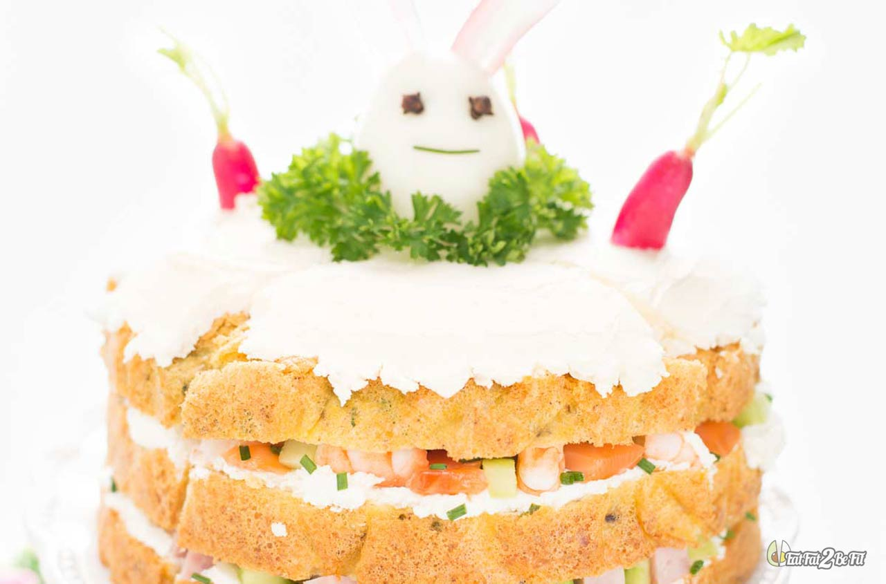 recette cétogène apéritif sandwich cake saumon jambon avocat concombre