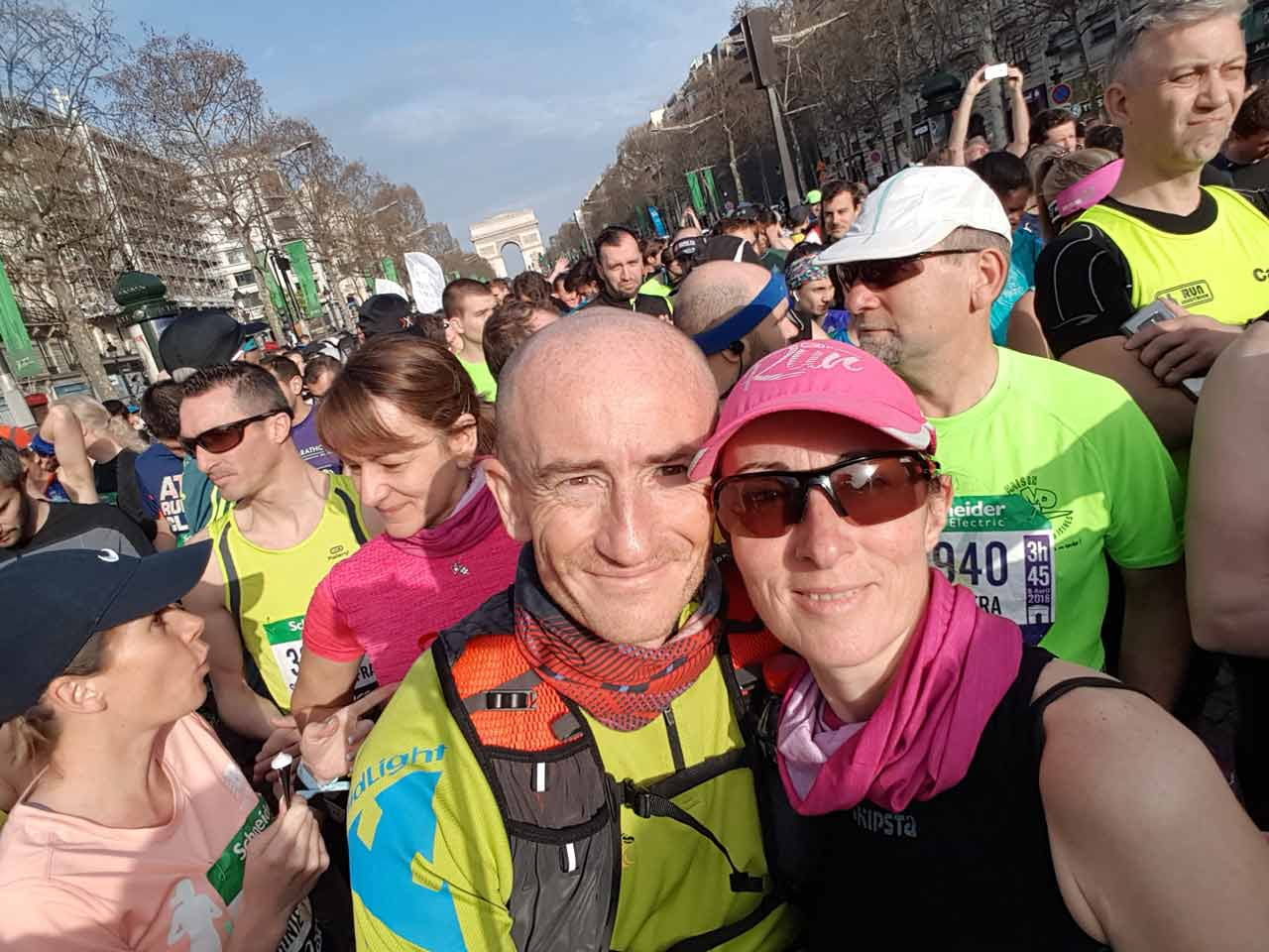Marc au Marathon de Paris 2018