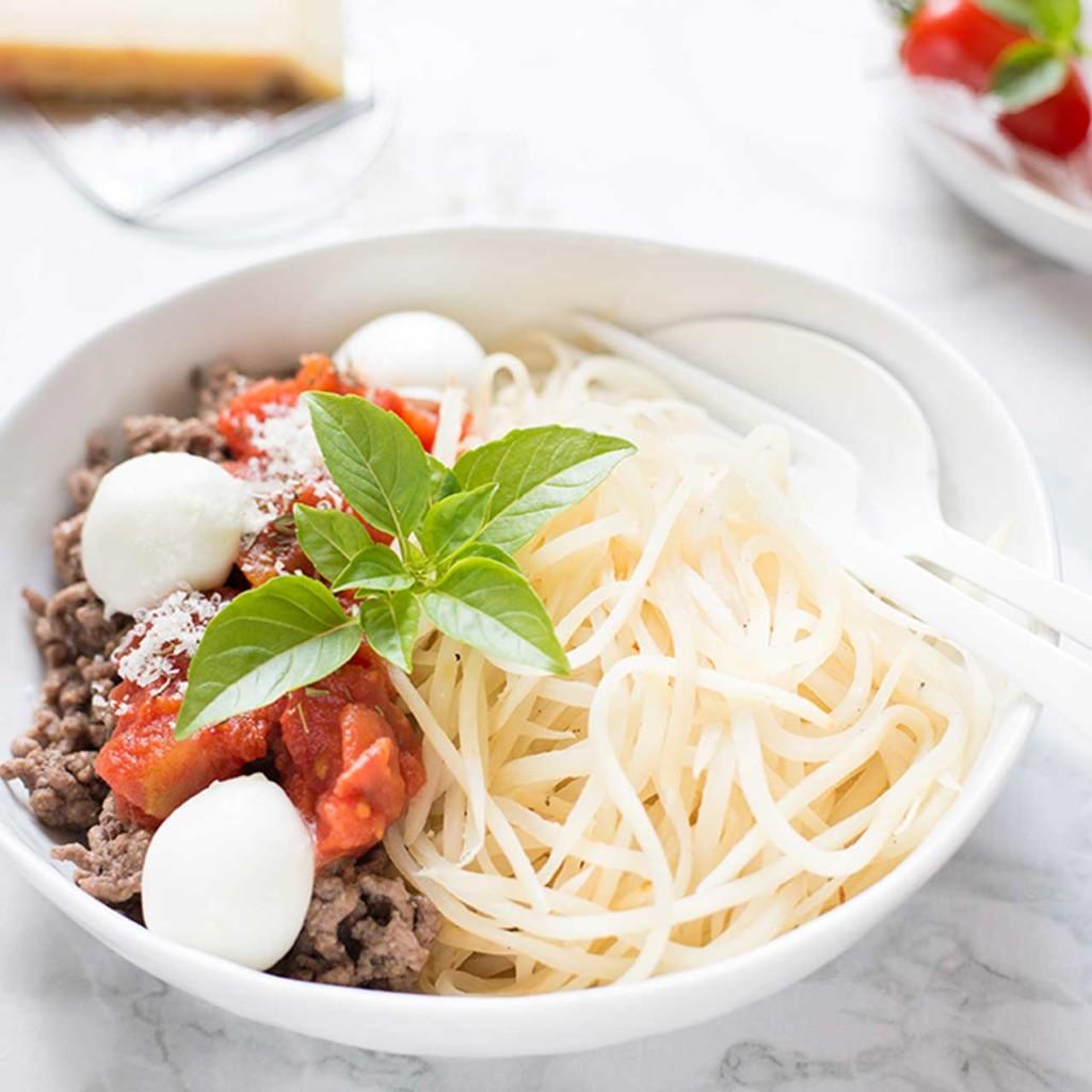 Spaghettti bolognaise cétogène