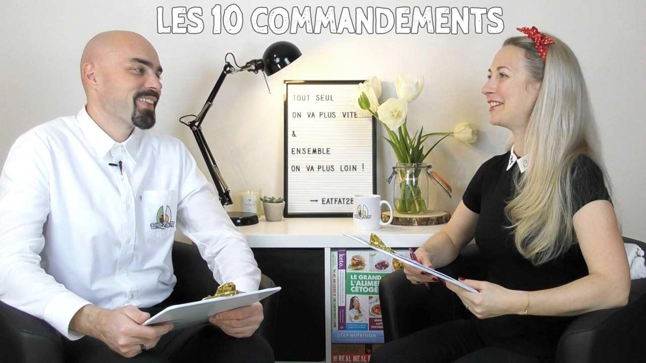 10 commandements du régime cétogène