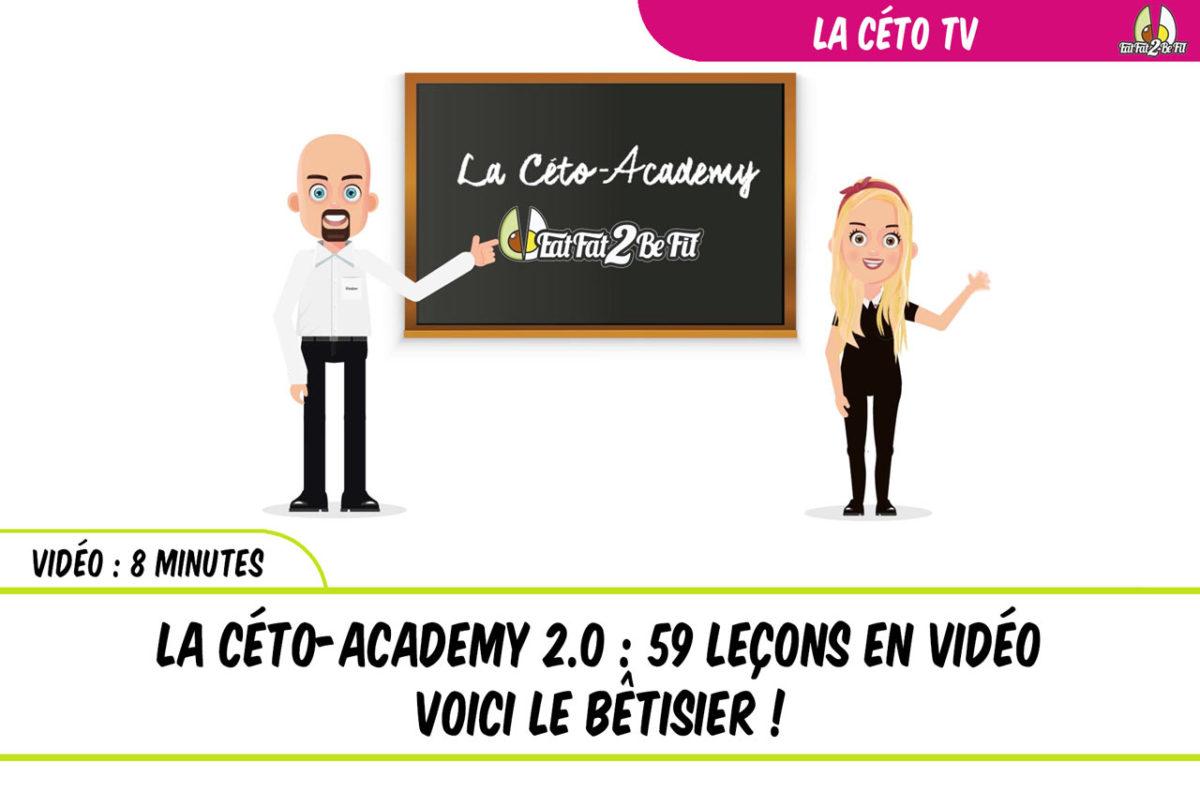 le bêtisier du tournage de la céto-academy 2.0 en vidéo