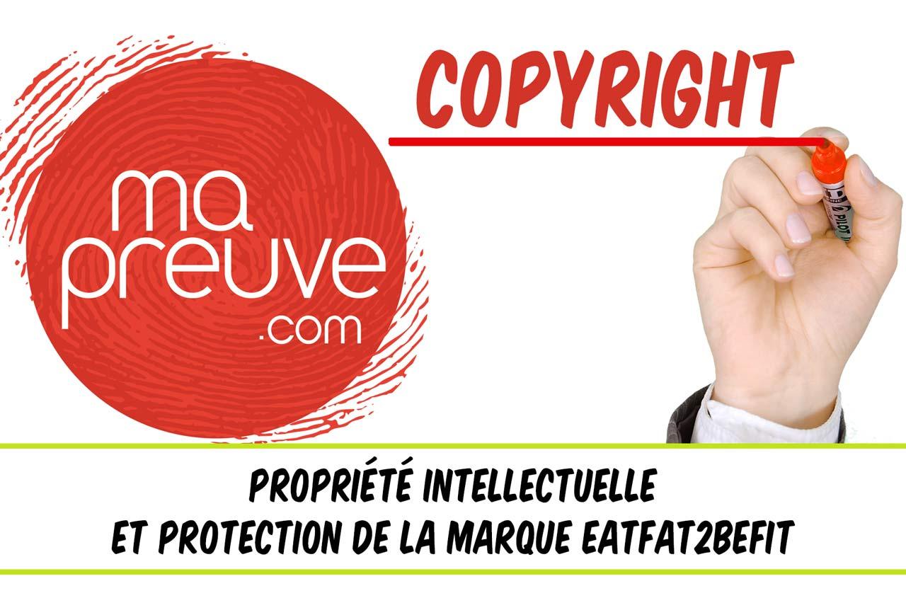 Eatfat2BeFit propriété intellectuelle et marque