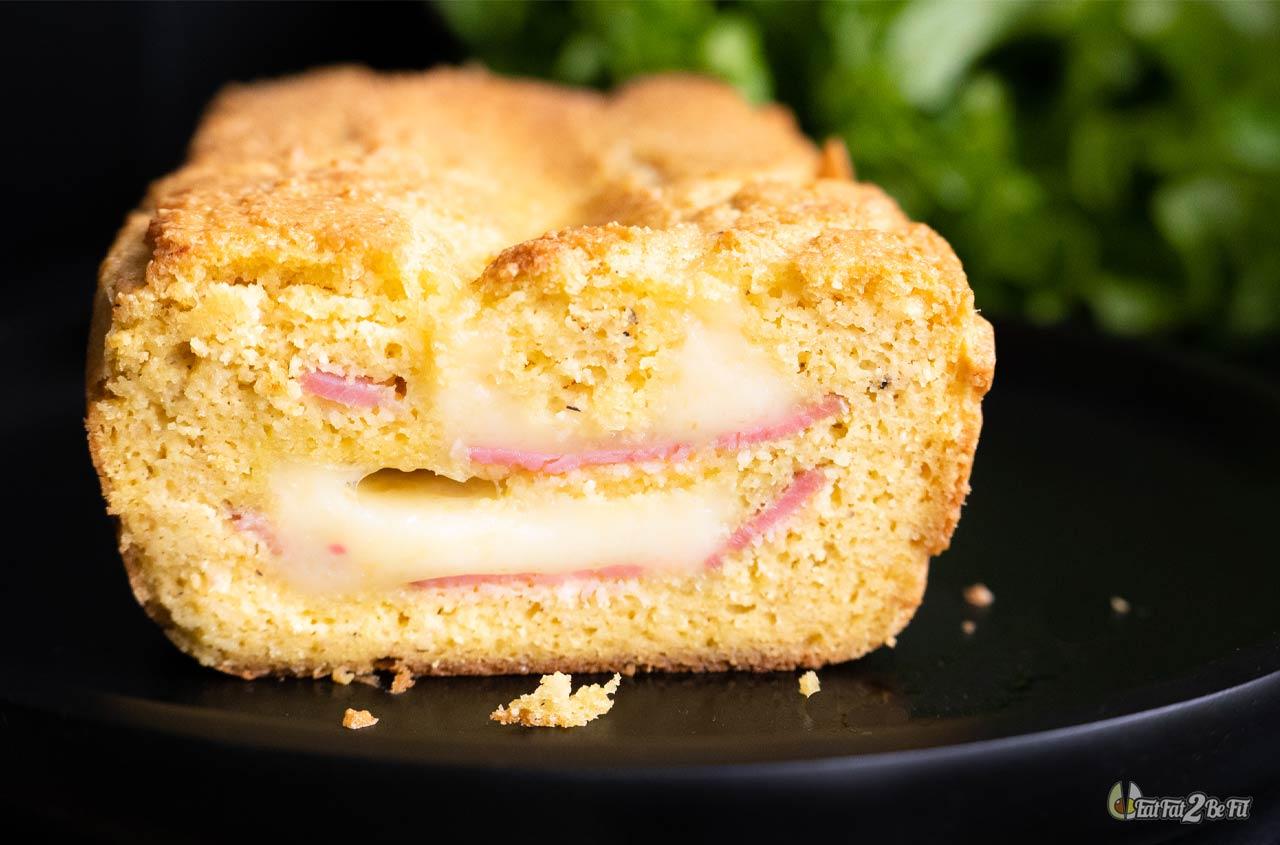 recette cetogene de croque cake au jambon et a l emmental